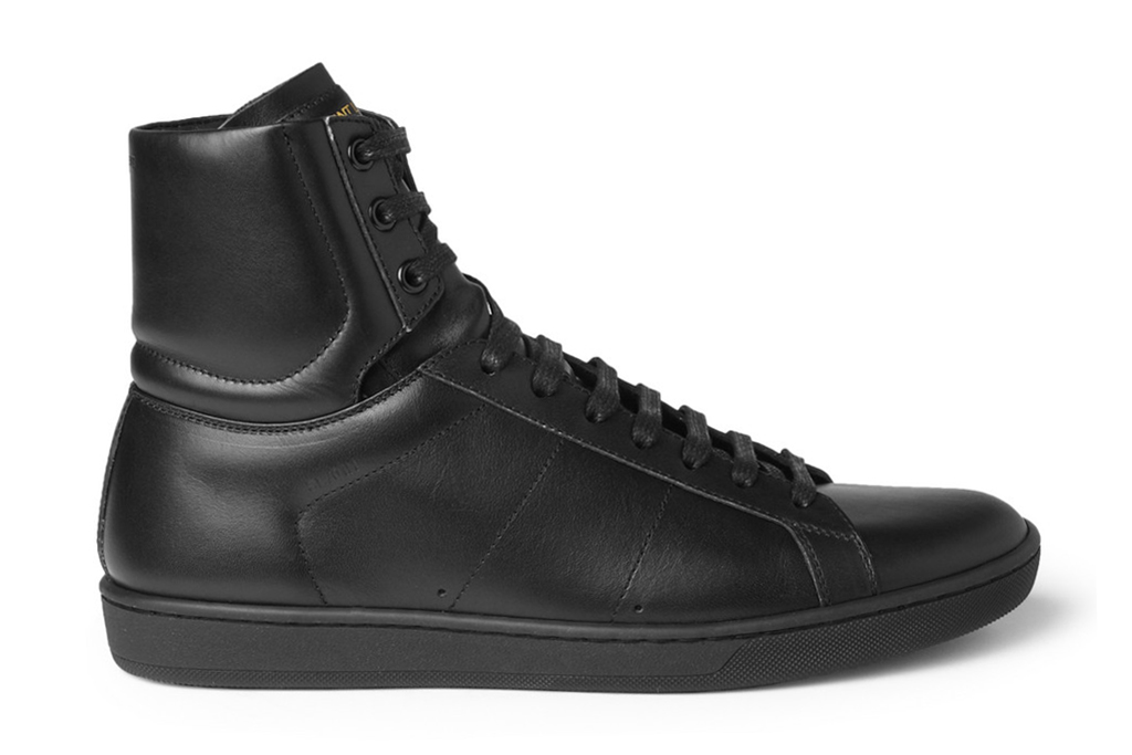 Image of Saint Laurent 2013 Spring/Summer Leather High-Top Sneakers