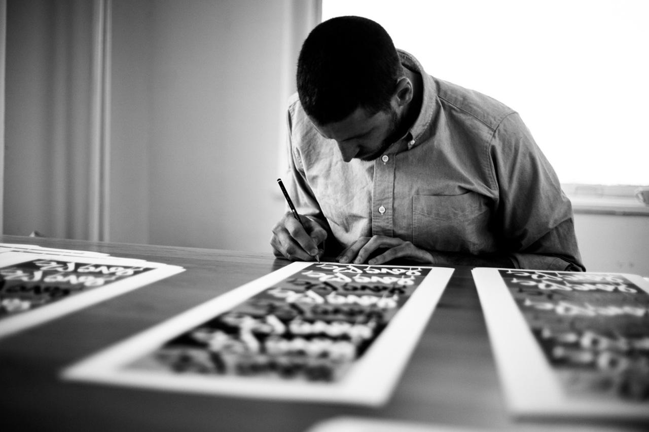 "Image of Saturdays Surf NYC x Curtis Kulig ""LOVE ME"" Art Prints"