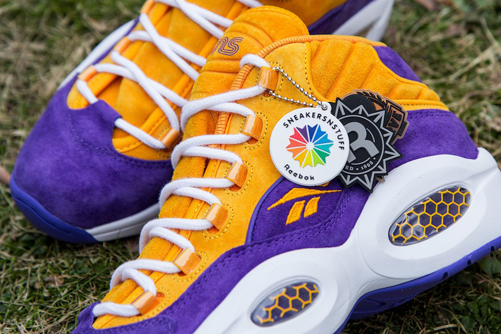 "Image of Sneakersnstuff x Reebok Question Mid ""The Crocus"""