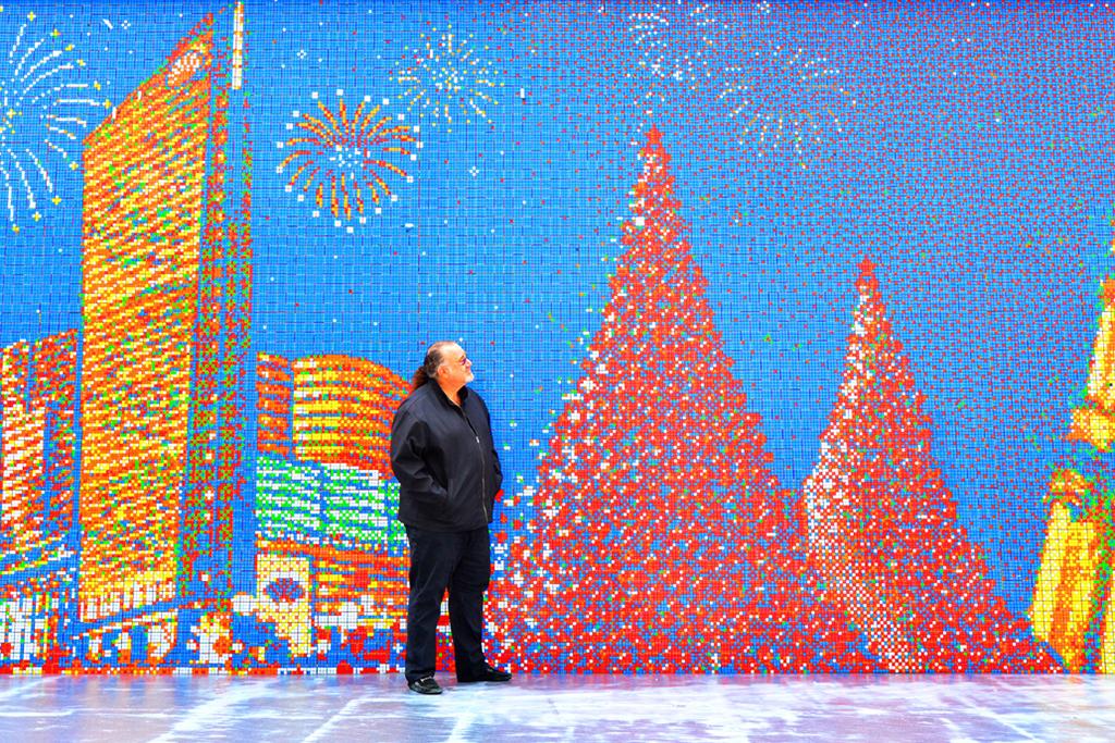 Image of The World's Largest Rubik's Cube Mosaic by Cubeworks Studio