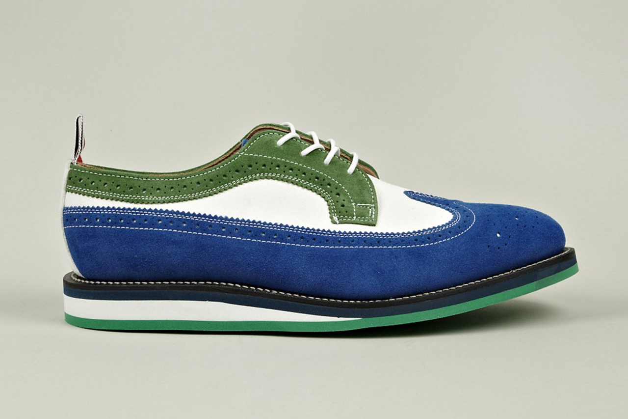 Image of Thom Browne Long Wing Leather Brogue