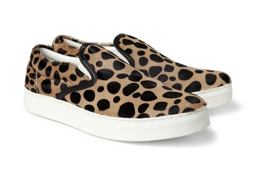 Image of UNDERCOVER Leopard Print Ponyskin Slip-Ons