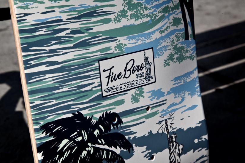 Image of 5boro NYC 2013 Spring/Summer Shaolin Island Camo Skate Decks