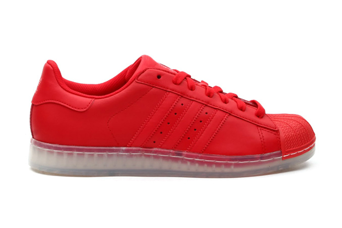 Image of adidas Originals Superstar Clear Vivid Red