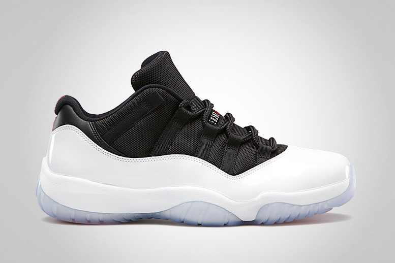 Image of Air Jordan 11 Retro Low White/Black-True Red