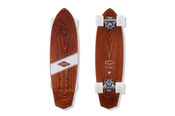 Image of Almond Surfboards & Designs x Shakastics Custom Planks Skateboard