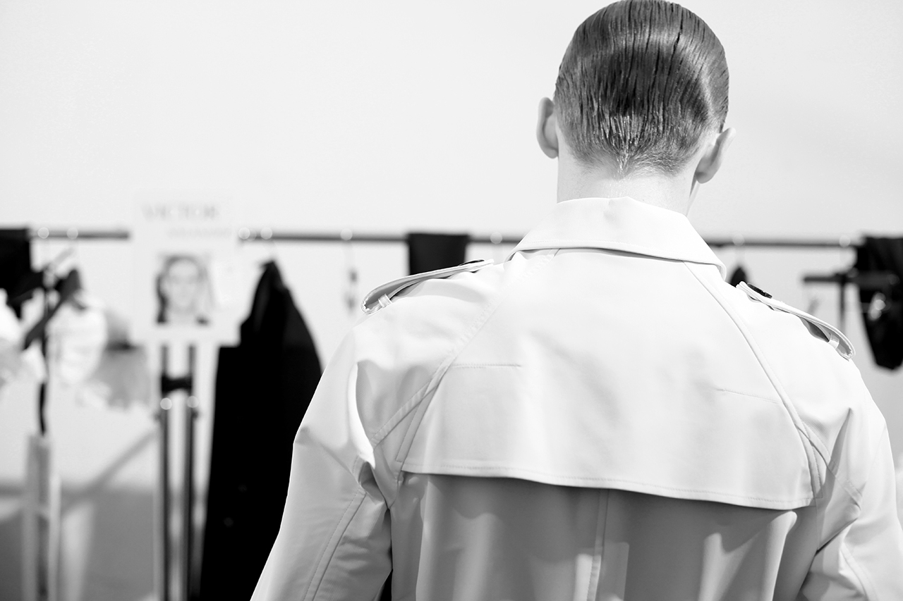 Image of Backstage at Dior Homme's First Ever Show in Beijing for Fall/Winter 2013