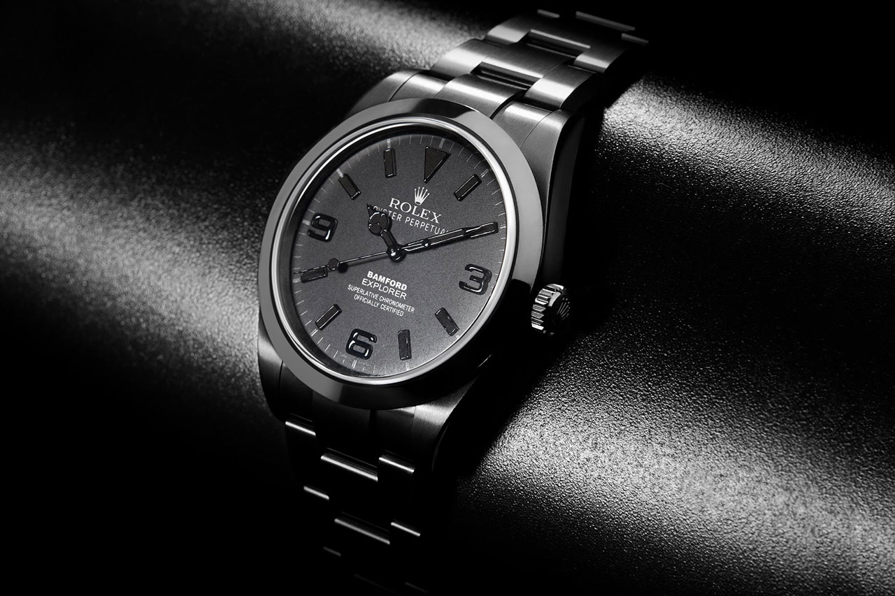 Image of Bamford Watch Department All Black Dial Explorer I