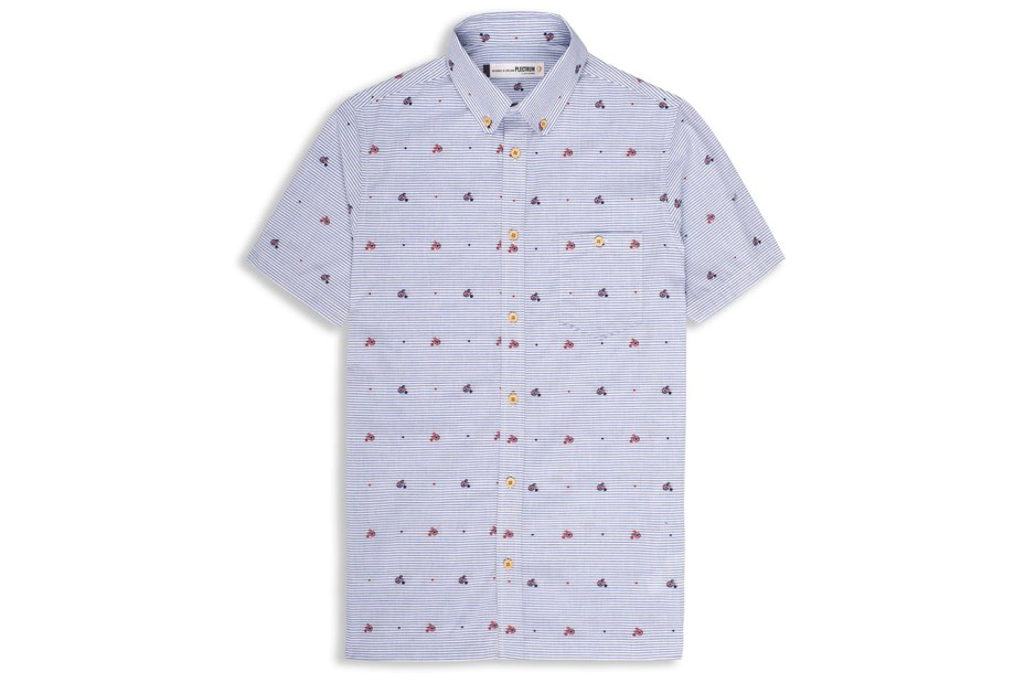 Image of Ben Sherman 2013 Spring/Summer Bicycle Print Japanese Fabric Shirt
