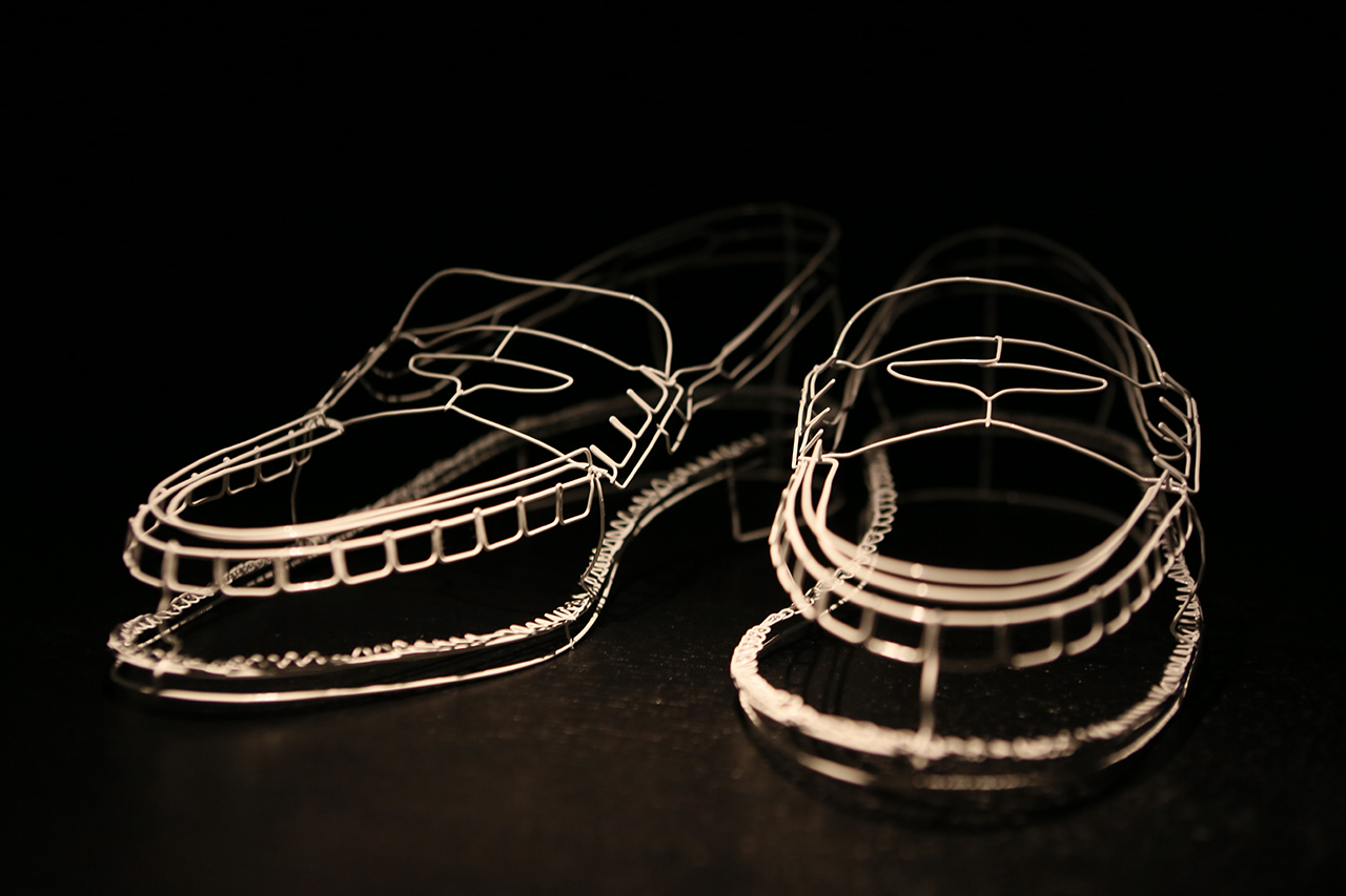 Image of Cathy Miles Wire Shoes Installation @ South Place Hotel