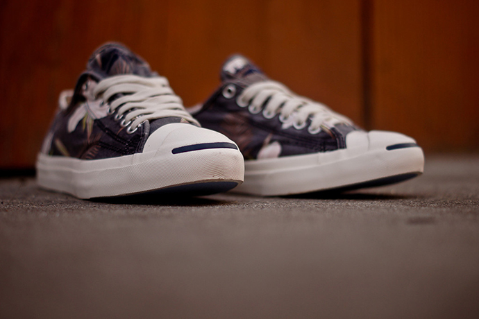 """Image of Converse Jack Purcell """"Navy Floral"""""""