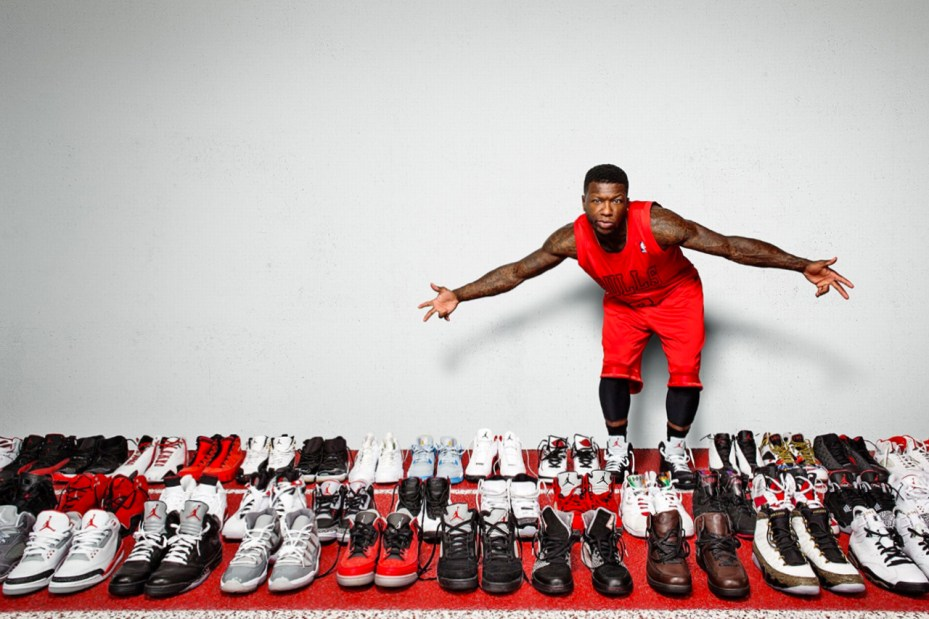 Image of ESPN Checks Out Nate Robinson's Vast Jordan Collection