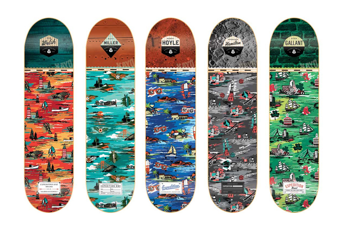 "Image of Expedition One ""Aloha Bitches!"" Skate Deck Series"