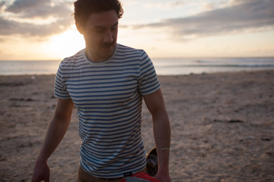Image of Finisterre Striped Merino Portland T-Shirt