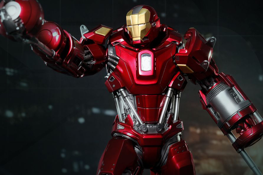 Image of Hot Toys Iron Man 3 Red Snapper Mark XXXV Limited Edition Collectible Figure