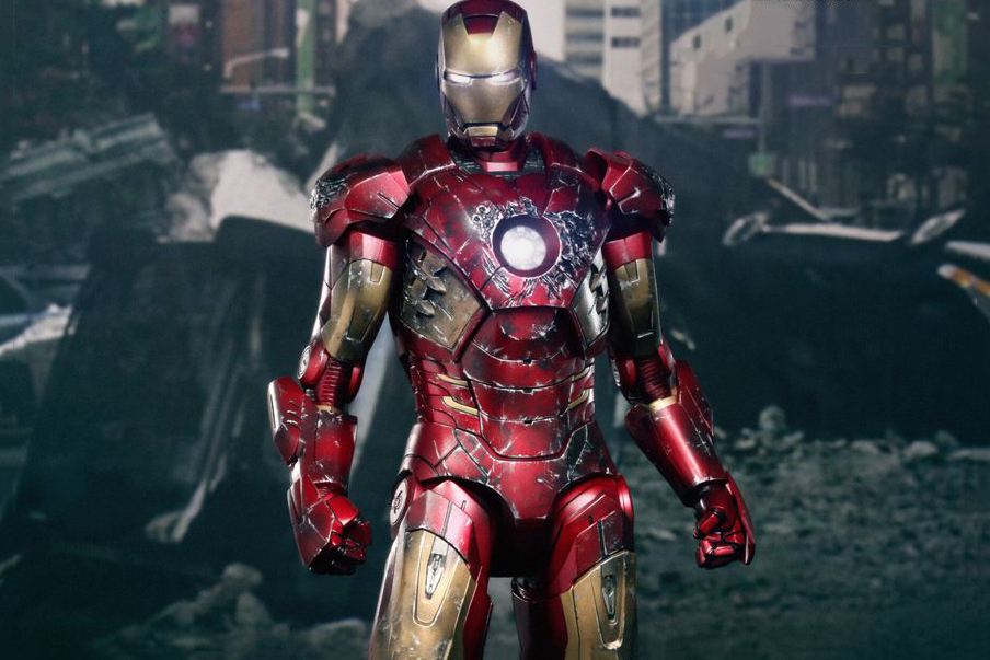 Image of Hot Toys 'The Avengers' Iron Man Battle Damaged Mark VII Limited Edition Collectible Figure