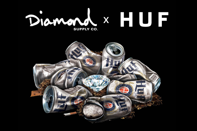 Image of Diamond Supply Co. x HUF 2013 Spring/Summer Teaser