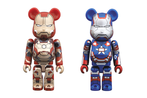 Image of Iron Man 3 x Medicom Toy 100% Bearbricks