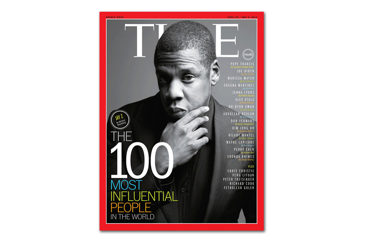 "Image of Jay-Z Covers TIME Magazine's ""100 Most Influential People in the World"" Issue"