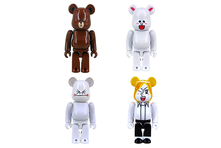 Image of LINE x Medicom Toy 100% & 400% Bearbricks