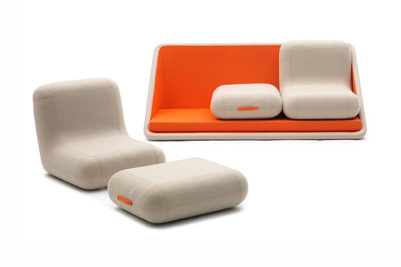 """Image of Matali Crasset """"Concentré de Vie"""" Modular Sofa for Campeggi"""