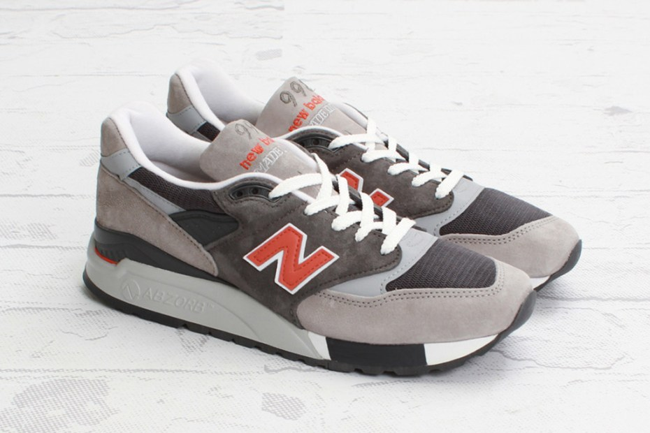 Image of New Balance M998GGO Grey/Orange