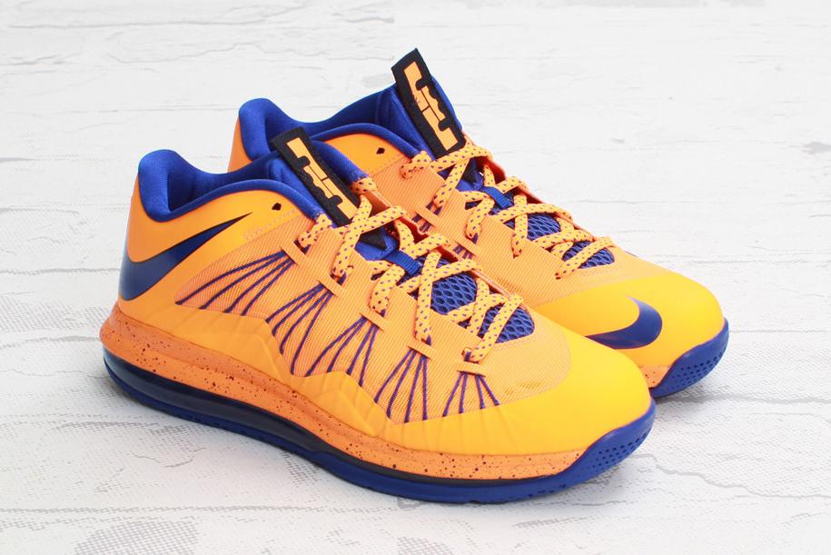 "Image of Nike Air Max LeBron X Low ""Bright Citrus/Hyper Blue"""