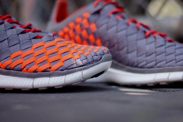 Image of Nike Free Inneva Woven Grey/Crimson