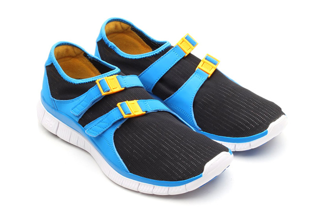 Image of Nike Free Sockracer Black/University Gold-Photo Blue