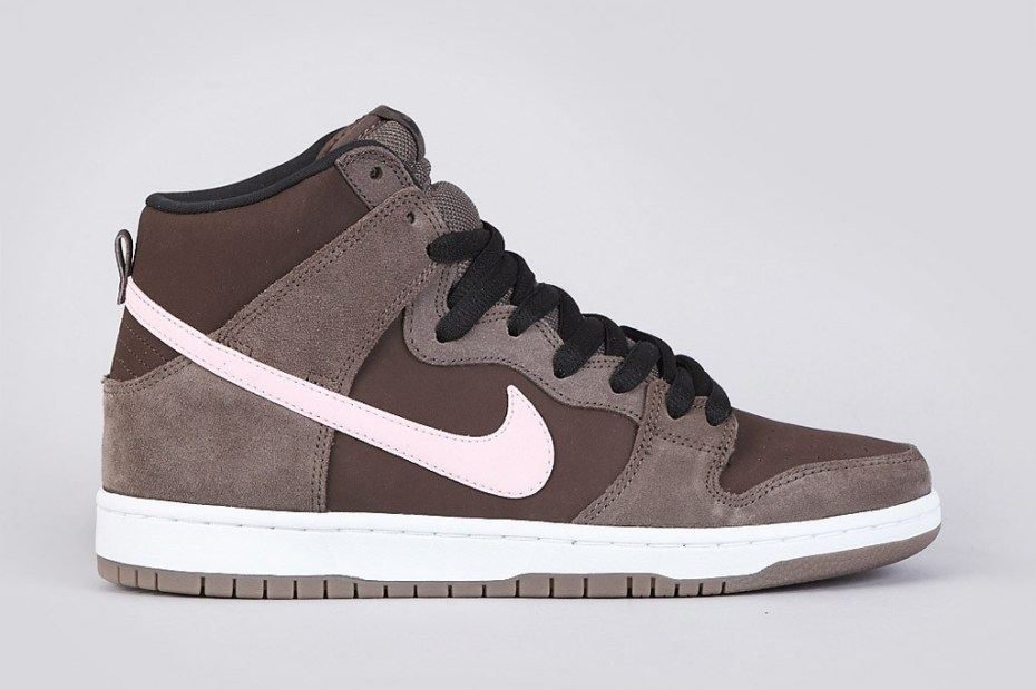 Image of Nike SB Dunk High Pro Smoke/Ion Pink-Baroque Brown