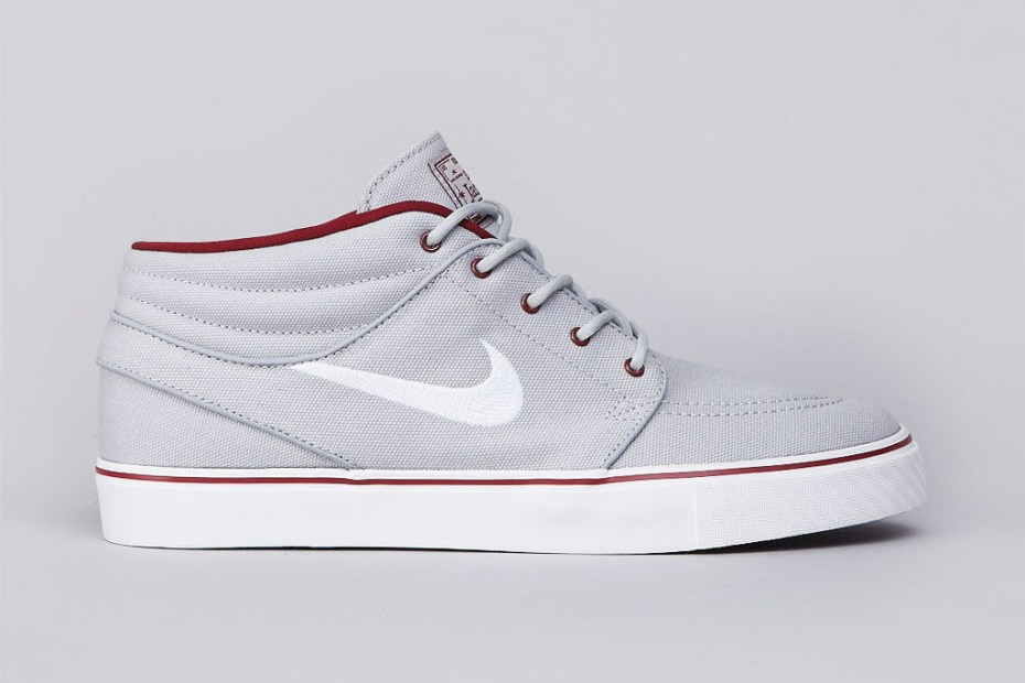 Image of Nike SB Zoom Stefan Janoski Mid Wolf Grey/White-Team Red