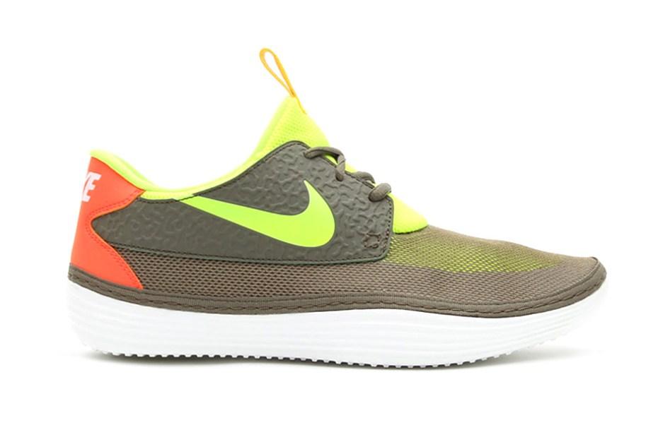 Image of Nike Solarsoft Mocassin Tarp Green/Volt