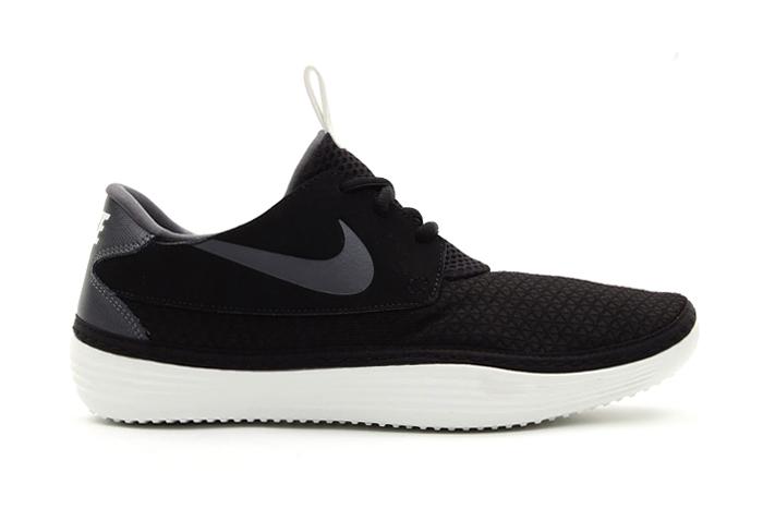 Image of Nike Solarsoft Moccasin Black/Dark Grey