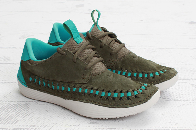 "Image of Nike Solarsoft Moccasin Premium Woven ""Tarp Green"""
