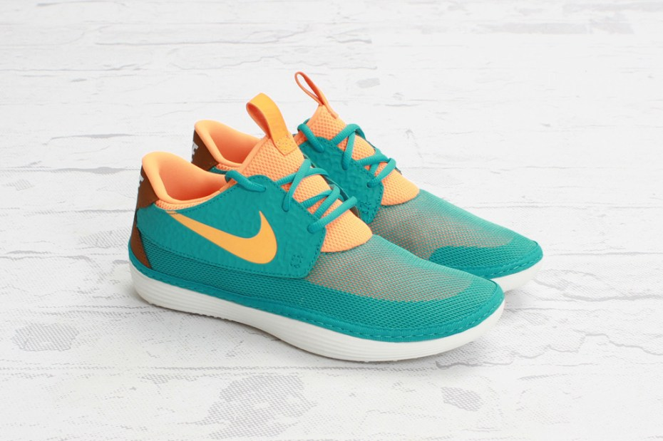 Image of Nike Solarsoft Moccasin Sport Turquoise/Bright Citrus