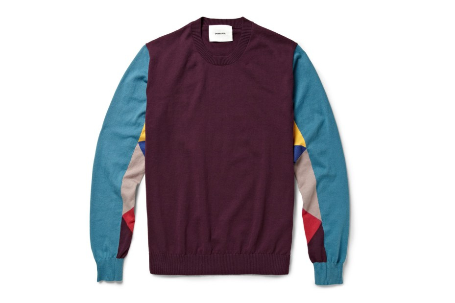 Image of UNDERCOVER 2013 Spring/Summer Panelled Cotton-Jersey Sweater