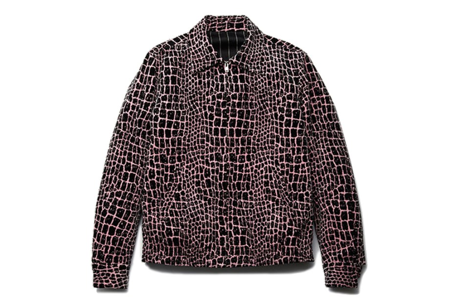 Image of WACKO MARIA Velvet Crocodile Jacket