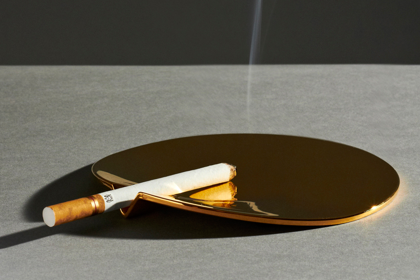 Image of 24 Carat Gold-Plated Fetish Ashtray by Joe Doucet