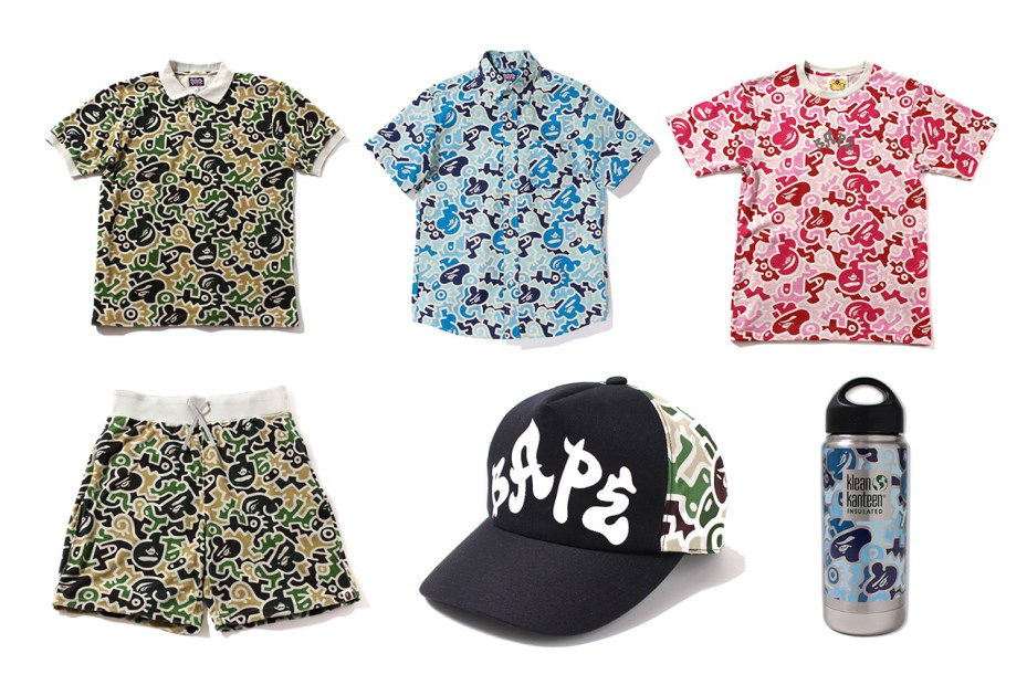 "Image of A Bathing Ape 2013 Spring/Summer ""HIEROGLYPH CAMO"" Collection"