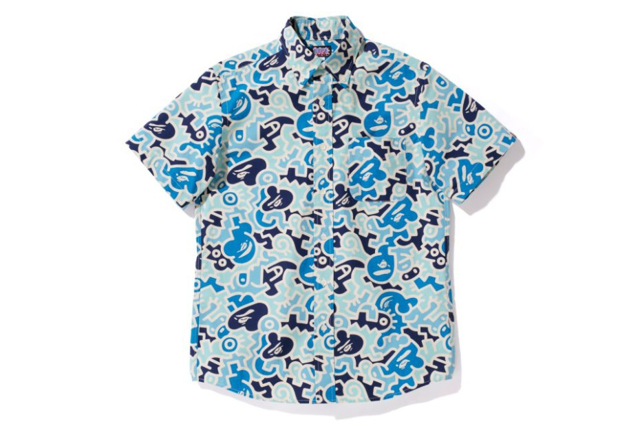 Image of A Bathing Ape 2013 Spring/Summer HIEROGLYPH CAMO S/S BD SHIRT