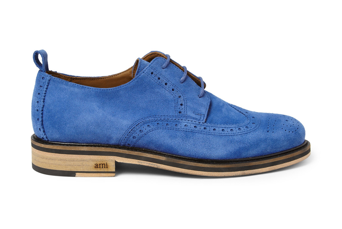 Image of AMI for MR PORTER 2013 Suede Wingtip Brogue