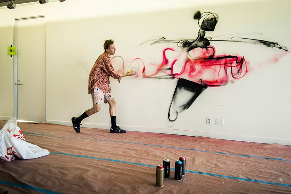 Image of Anthony Lister's Los Angeles Mural at theAudience Part II