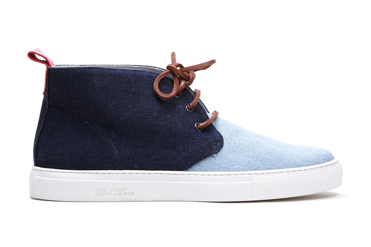 Image of Del Toro Selvage Denim Alto Chukka Sneaker