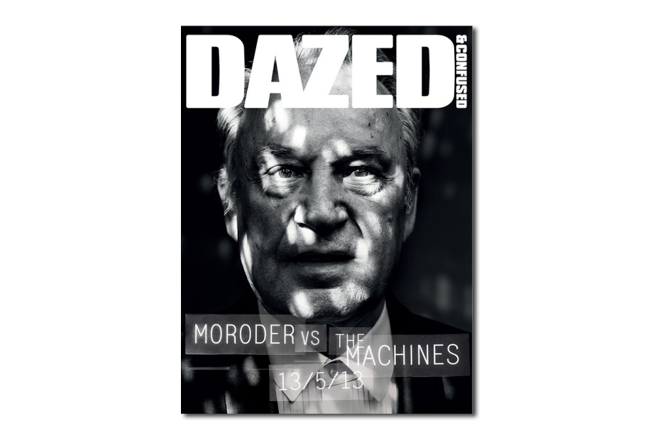 Image of Giorgio Moroder Teaser Cover for Dazed & Confused's June 2013 Issue