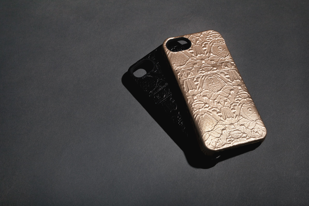 Image of Fool's Gold x HEX Leather Solo Wallet iPhone Case