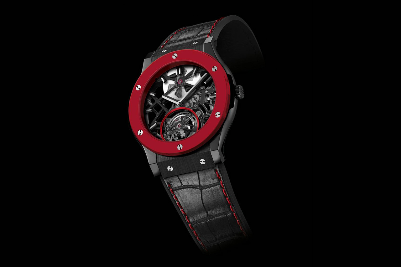 Image of Hublot Red Ceramic Classic Fusion for Only Watch