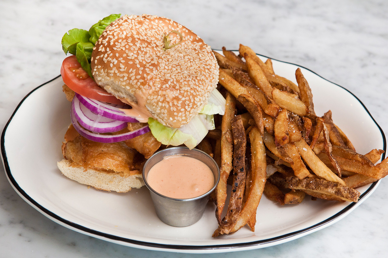 Image of HYPEBEAST Eats… Fried Hake Fish Sandwich by David Malbequi of Prima