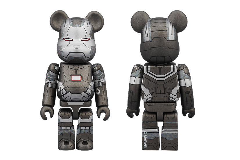 "Image of Iron Man 3 x Medicom Toy ""War Machine"" 100% & 400% Bearbricks"