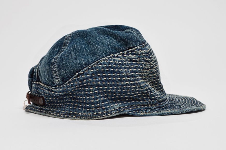 Image of Kapital Kogin Blue Washed Country Cap
