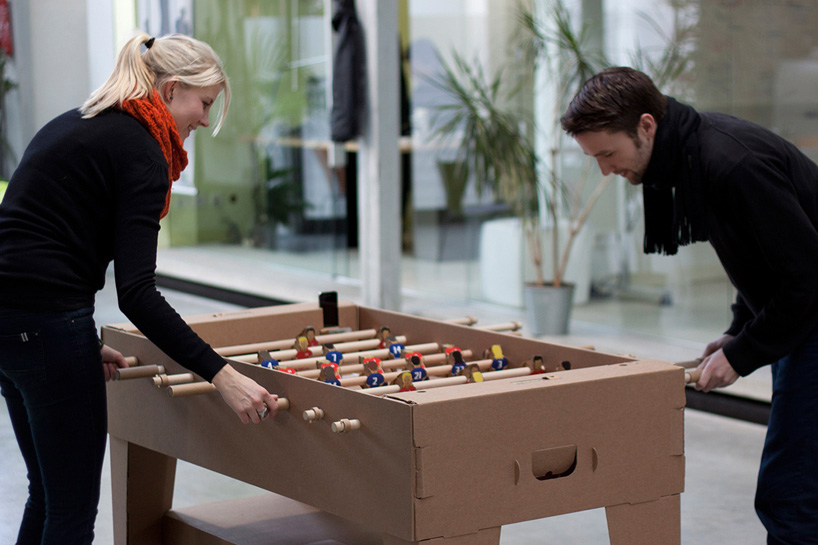 Image of Kickpack Cardboard Foosball Table